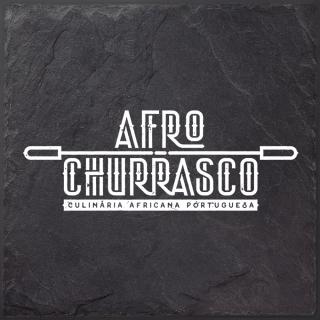 Afro Churrasco logo op leisteen