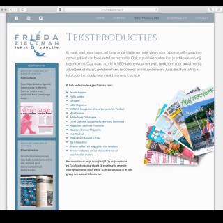 Frieda Zieleman Tekst & Redactie website 2
