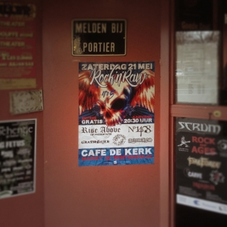 rock'n'raw poster bij cafe de Engelenbak Doetinchem